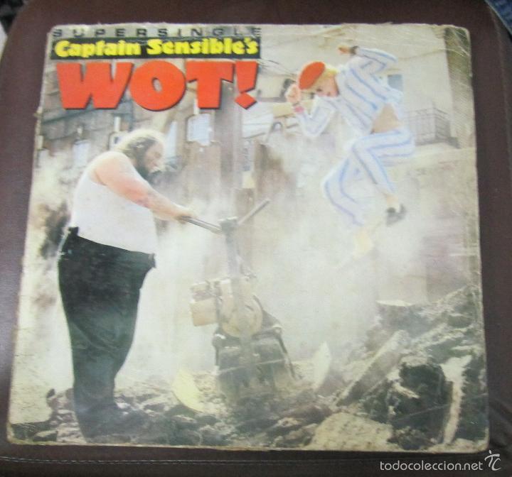 LP. CAPTAIN SENSIBLE'S. WOT!. 1982. A&M RECORDS (Música - Discos de Vinilo - Maxi Singles - Pop - Rock - New Wave Internacional de los 80)