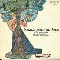 ASTOR PIAZZOLLA Y ROBERTO GOYENECHE. SINGLE PROMOC. SELLO RCA VICTOR. EDIT. EN ESPAÑA. AÑO 1977