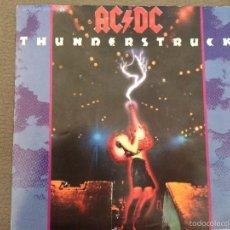 Discos de vinilo: AC DC THUNDERSTRUCK Y FIRE YOUR GUNS SINGLE. Lote 143675005