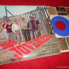 Discos de vinilo: LOS JOVENES ADIOS MI AMOR/QUE LLORAR/BAJO TU TECHO +1 EP 1965 DISCOPHON NUEVO. Lote 59439595