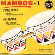 Discos de vinilo: MAMBOS - 1 PEREZ PRADO - AL ROMERO, EP, SKOKIAAN + 3, AÑO 19?? MADE IN FRANCE. Lote 59443150
