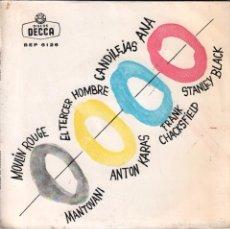 Discos de vinilo: MANTOVANI / MOULIN ROUGE - ANTON KARAS / EL TERCER HOMBRE - STANLEY BLACK / ANA ..EP DECCA DE 1961 . Lote 59471440