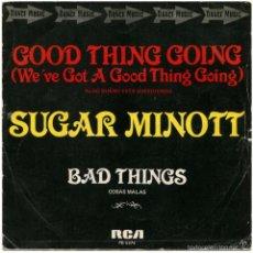Discos de vinilo: SUGAR MINOTT - GOOD THING GOING (WE'VE GOT A GOOD THING GOING) - SG SPAIN 1861 - RCA PB-5374. Lote 59521127