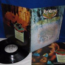 Discos de vinilo: RICK WAKEMAN - JOURNEY TO THE CENTER OF THE EARTH - LP 1974 GERMANY - COMPLETA CON LIBRETO 10 PAG.. Lote 59522315