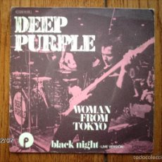 Discos de vinilo: DEEP PURPLE - WOMAN FROM TOKYO + BLACK NIGHT ( LIVE VERSION ). Lote 59560331
