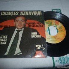 Discos de vinilo: CHARLES AZNAVOUR A MA FILLE. Lote 59598975
