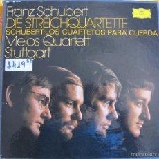 Discos de vinilo: LP - SCHUBERT - LOS CUARTETOS PARA CUERDA (CAJA CON 7 LP'S Y LIBRETO, DEUTSCHE GRAMMOPHON 1976). Lote 59601899