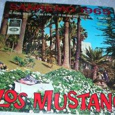 Discos de vinilo: LOS MUSTANG - YO QUE NO VIVO SIN TI + 3 - EP SAN REMO 1965. Lote 59639635