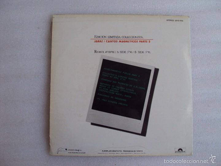 Discos de vinilo: JARRE , CANTOS MAGNETICOS PARTE 2, LP EDICION LIMITADA COLECCIONISTAS, EDICION ESPAÑOLA POLYDOR 1981 - Foto 3 - 59646599