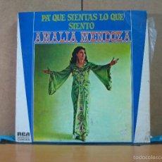 Discos de vinilo: AMALIA MENDOZA - PA QUE SIENTAS LO QUE SIENTO - RCA-CAMDEN SCL1-9145 - 1974. Lote 59665251