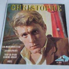 Discos de vinilo: CHRISTOPHE - LES MARIONNETTES - EP - 1965. Lote 59666063