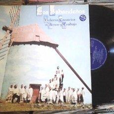 Disques de vinyle: LOS SABANDEÑOS - BOLEROS CANARIOS DE AMOR Y TRABAJO LP VINILO 1982. Lote 59670047