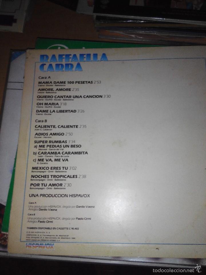 Discos de vinilo: RAFFAELLA CARRA - HISPAVOX LP VINILO - Foto 2 - 59670635