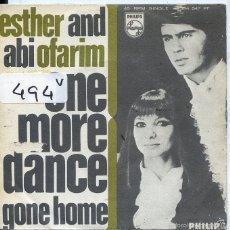 Discos de vinilo: ESTHER Y ABI OFARIM / ONE MORE DANCE / GONE HOME (SINGLE 1968). Lote 59683091