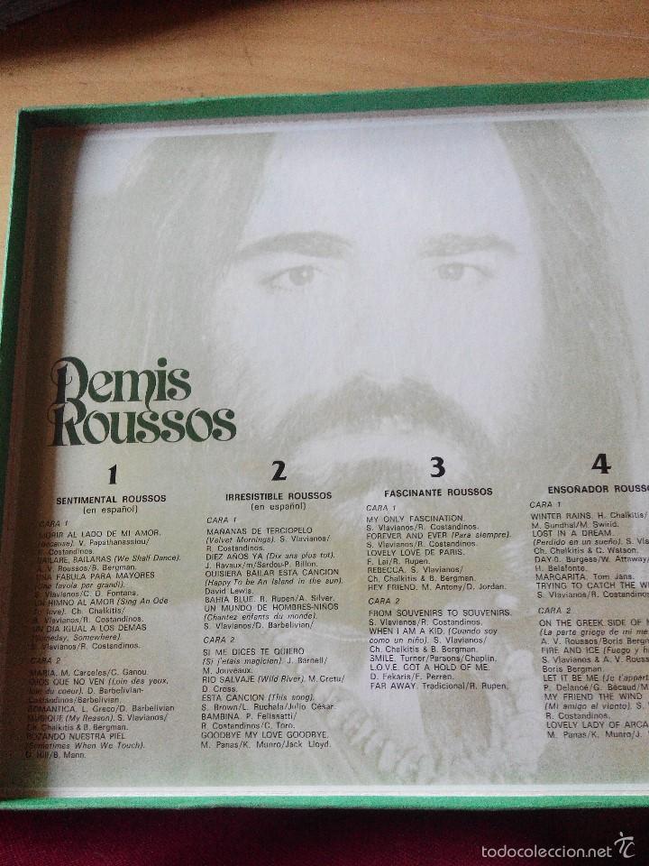 Discos de vinilo: DEMIS ROUSSOS - 4 LPS VINILOS COMPILACION DE SUS EXITOS EN ESTUCHE - Foto 2 - 59685971