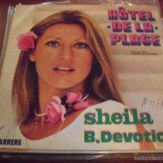 Discos de vinilo: SINGLE DE SHEILA & THE B. DEVOTION. HOTEL DE LA PLAGE. EDICION CARRERE DE 1978 (FRANCIA).. Lote 59701303