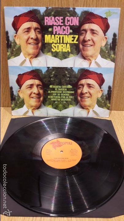 RÍASE CON PACO MARTÍNEZ SORIA, LP / POPULI - 1976 / MBC. ***/*** (Música - Discos - LP Vinilo - Otros estilos)