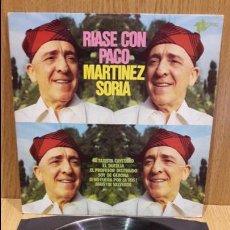Discos de vinilo: RÍASE CON PACO MARTÍNEZ SORIA, LP / POPULI - 1976 / MBC. ***/***. Lote 178939817
