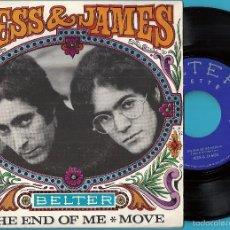 Discos de vinilo: JESS & JAMES: THE END OF ME / MOVE. Lote 59730006