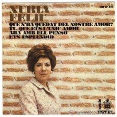 Discos de vinil: NURIA FELIU 1968 NOVA CANÇÓ ANDREU, BORRELL, TRENET, S.CAHN, D. FIELDS, R.MELLIN. Lote 59730324
