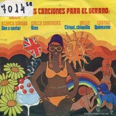 Discos de vinilo: CANCIONES PARA EL VERANO - BLANCO SONIDO / VEN A CANTAR + 3 (EP PROMO 1972). Lote 59731536