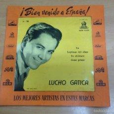Discos de vinilo: EP PROMOCIONAL CON EXPOSITOR DE LUCHO GATICA PRESENTACION EN ESPAÑA BIEN VENIDO A ESPAÑA . Lote 59749196