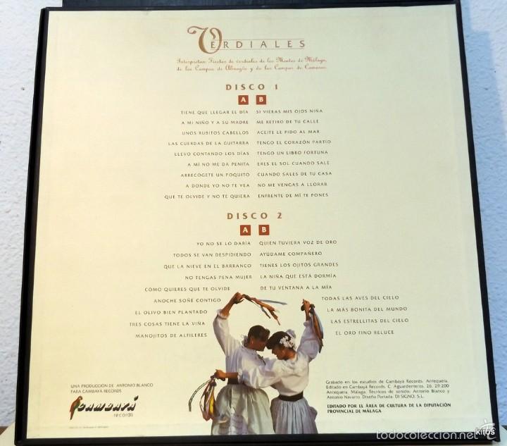 Discos de vinilo: VERDIALES. CANTES DE MALAGA - Foto 2 - 59750308