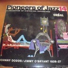 Discos de vinilo: EPS DE PIONEERS OF JAZZ. JOHNNY DODDS / JIMMY O'BRYANT. EDICION CORAL (USA). MUY RARO.. Lote 59751356