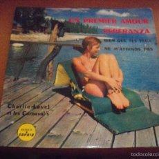 Discos de vinilo: EPS DE CHARLIE LEVEL ET LES CARNAVAL'S. UN PREMIER AMOUR + 3. EDICION SAPHIR (FRANCIA). RARO.. Lote 59753468