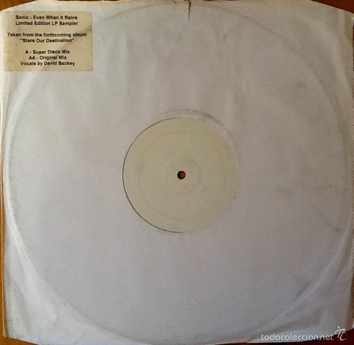 SONIC : EVEN WHEN IT RAINS [UK 2002] 12' (Música - Discos de Vinilo - Maxi Singles - Electrónica, Avantgarde y Experimental)