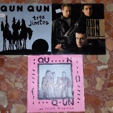 Discos de vinilo: LOTE 3 SINGLES QUN QUN . Lote 59780284