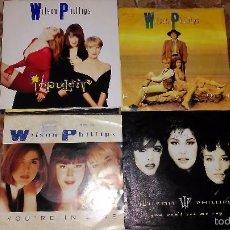 Discos de vinilo: LOTE 4 SINGLES WILSON PHILLIPS. Lote 59786116