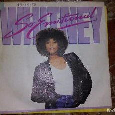 Discos de vinilo: WHITNEY HOUSTON,SO EMOTIONAL DEL 87( MUY DIFICIL DE VER). Lote 59786600