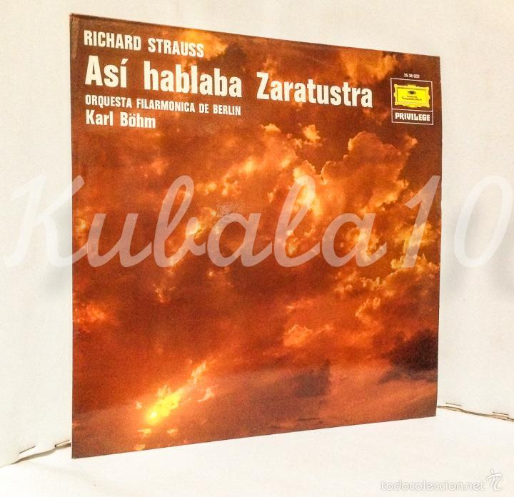 ASI HABLABA ZARATUSTRA ·· RICHARD STRAUSS · ORQ. FILARMONICA DE BERLIN · KARL BOHM (Música - Discos - Singles Vinilo - Clásica, Ópera, Zarzuela y Marchas)