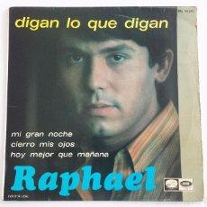 Discos de vinilo: RAPHAEL SINGLE VINILO.. Lote 59793080