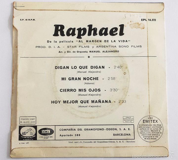 Discos de vinilo: RAPHAEL SINGLE VINILO. - Foto 2 - 59793080