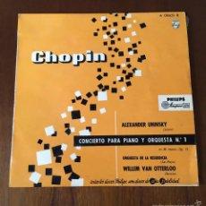 Discos de vinilo: CHOPIN CONCIERTO PARA PIANO Y ORQUESTA Nº 1. (MAXI SINGLE) 1958. Lote 59810460
