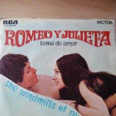 Discos de vinilo: HENRY MANCINI - ROMEO Y JULIETA - SINGLE VINILO. Lote 59835428