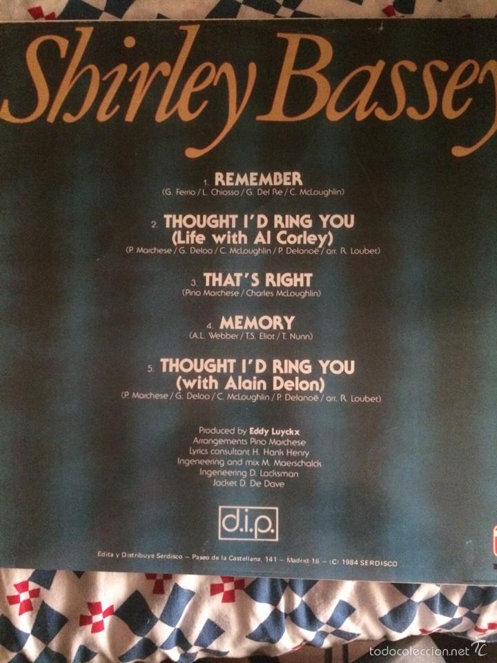 Discos de vinilo: SHIRLEY BASSEY-REMEMBER-1984-NUEVO - Foto 2 - 59856474