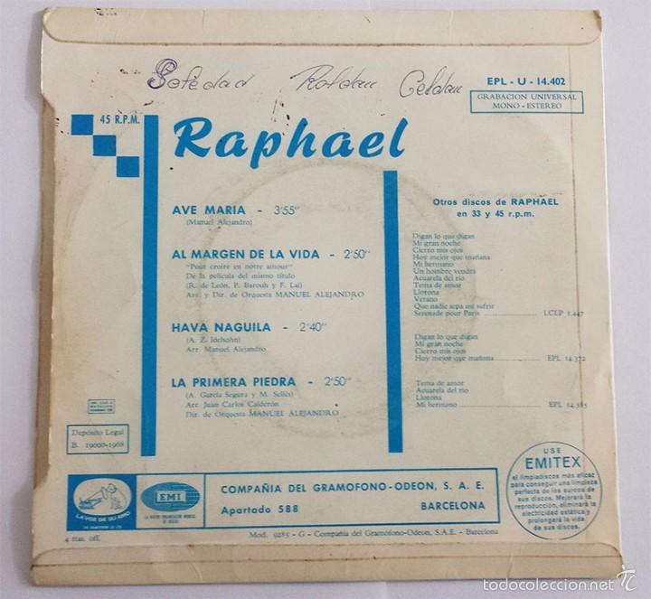 Discos de vinilo: RAPHAEL SINGLE VINILO. - Foto 2 - 59860908