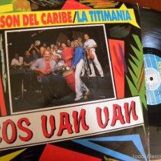 Discos de vinilo: LOS VAN VAN -AL SON DEL CARIBE -LA TITIMANIA LP 1988 -BUEN ESTADO. Lote 59884015