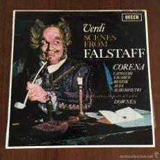 Discos de vinilo: VERDI SCENES FROM FALSTAFF 1964. Lote 59886643
