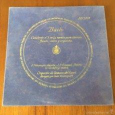 Discos de vinilo: BACH CONCIERTO Nº 8 EN LA MENOR PARA CLAVECIN, FLAUTA, VIOLIN Y ORQUESTA. Lote 59917287