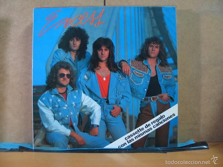 EXCESS - GRITARAS LLORARAS (2 VERSIONES) / NO VOY A SALVARTE - BBA RECORDS BMX-300 - 1990 (Música - Discos de Vinilo - Maxi Singles - Heavy - Metal)