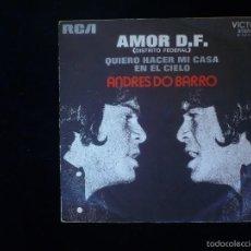 Discos de vinilo: ANDRES DO BARRO, AMOR D. F.. Lote 59938355