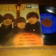 Discos de vinilo: THE BEATLES:I FEEL FINE/ANY TIME AT ALL/SHE'S A WOMAN/WHEN'L GEL HOME.EP1964.ODEON EMI . Lote 60056341