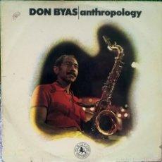 Discos de vinilo: DON BYAS. ANTHROPOLOGY. BLACK LION, SPAIN 1974 LP. Lote 60062651