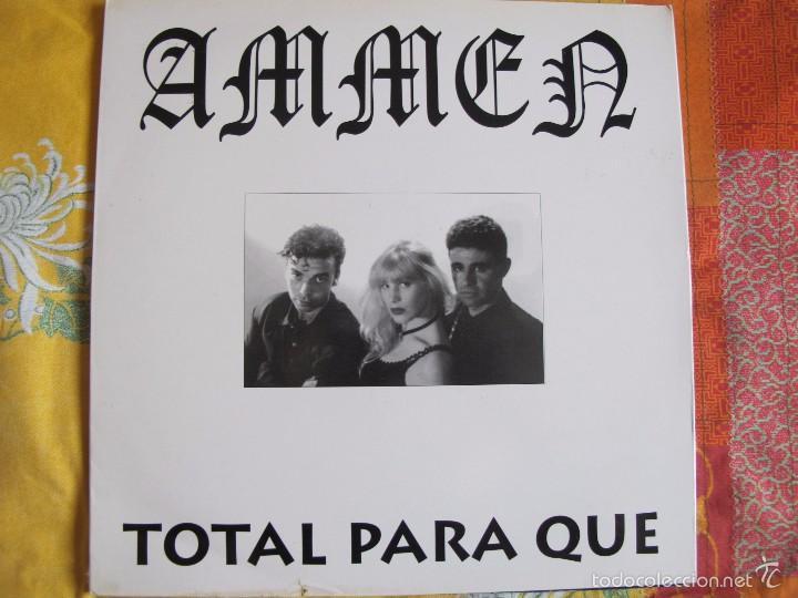 MAXI - AMMEN - TOTAL PARA QUE (SPAIN, MACRO DISCOS 1994) (Música - Discos de Vinilo - Maxi Singles - Grupos Españoles de los 90 a la actualidad)