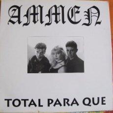 Discos de vinilo: MAXI - AMMEN - TOTAL PARA QUE (SPAIN, MACRO DISCOS 1994). Lote 60065287