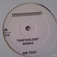 Discos de vinilo: VARIOUS - UNTITLED - ASHANTI - UNFOOLISH (REMIX). Lote 60071743